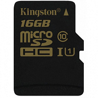 Карта памяти Kingston 16 GB microSDHC class 10 UHS-I SDCA10/16GBSP